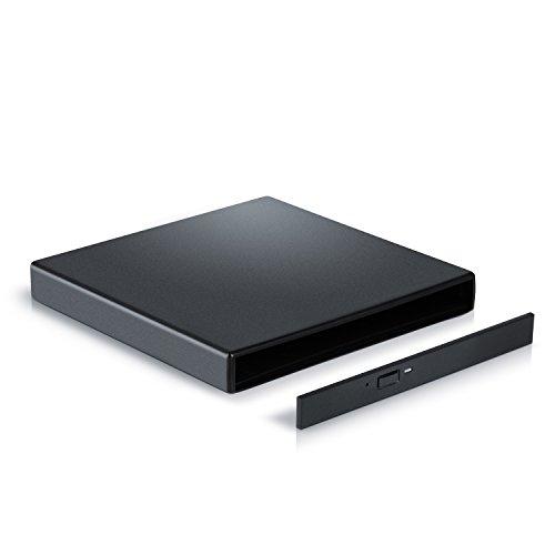 CSL - USB 2.0 Slim Line externes Laufwerksgehäuse mit SATA Anschluss | Leergehäuse extern für optische Laufwerke wie CD / DVD / Combo / Brenner mit S-ATA Schnittstelle | Plug & Play