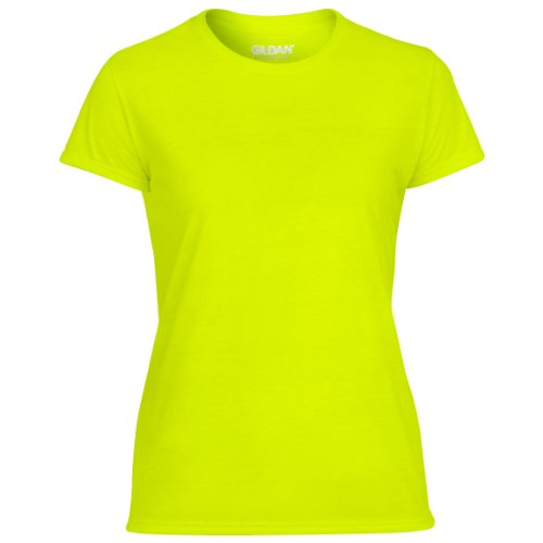 GILDAN - T-shirt -  Femme Safety Green