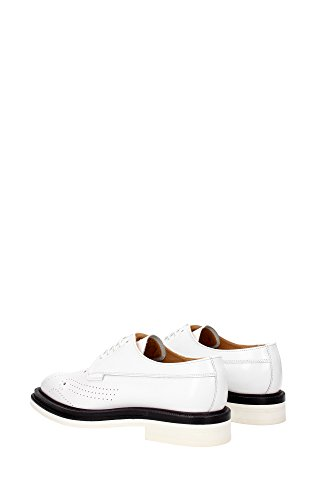 A74158WHITE Church's Derby Femme Cuir Blanc Blanc