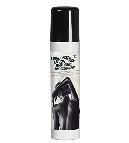 schwarze Haare und Körper-Spray 75 ml (Schwarzes Kostüm Haar Spray)