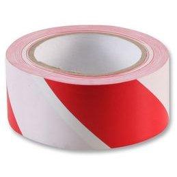 Kleber Hazard Kennzeichnung Rot Weiß 50mm x 33m
