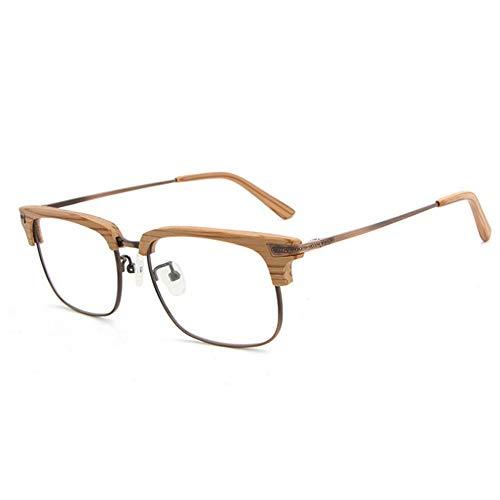 SCJ Herren Outdoor Freizeit persönlichkeit Retro Holz semi-randlose Sonnenbrille für Frauen männer Platz Klassische Unisex Sonnenbrille uv-Schutz Sonnenbrille Fahren Sonnenbrille Strand sonnenbr