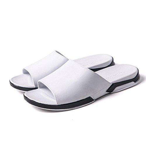 OYSOHE Damen Beiläufiger Strand Breathable Pantoffel Sandelholz Sommer Ausgangsflache Flip Flops Schuhe Rutschfeste Hausschuhe mit weichem Boden (Geschlossenen Boden Reißverschluss)