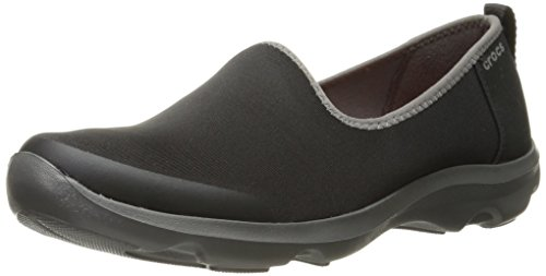 Crocs - Busy Day stretch Skimmer Flat Femmes Black/Graphite
