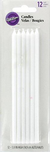 Wilton Geburtstagskerzen, lang, Weiß