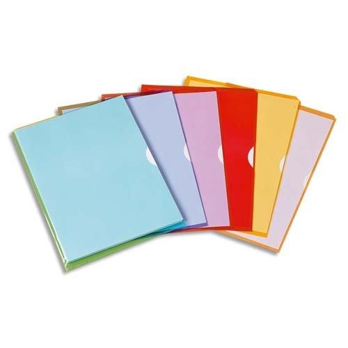 Elba Fard'Liss Tasche-Spaltkeil aus PVC 20/100, A4, verschiedene Farben, 50 Stück