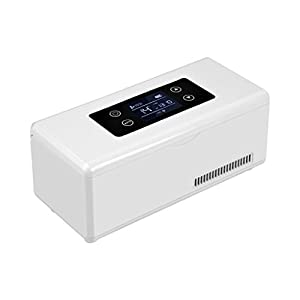 KJ4565 Medizin-Kühlschrank und Insulin-Kühler mit Temperaturregelung Tragbare Medikamenten-Kühlbox Für Auto Reise-Insulin-Kühlbox (23.5X10.5X11Cm (9.25X4.13X4.33Inch)