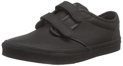 Vans Atwood V - Scarpe da Ginnastica Basse Bambino, Nero (leather/black/black), 39 EU