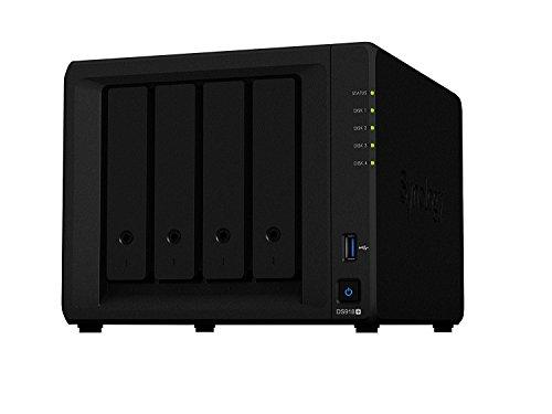 SYNOLOGY DS918+ NAS-Server 4-Bay, 2,3GHz Quad Core CPU, 2X USB3, 4GB RAM, Kapazität:4.000GB (4TB), HDD Typ:Best Choice