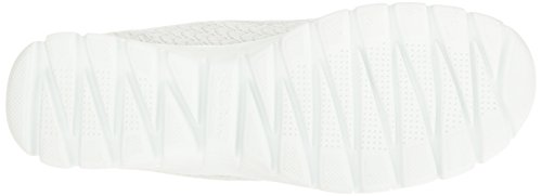 Skechers femmes EZ Flex 3.0 Estrella Textile Slip On Formateurs - Noir et blanc Blanc