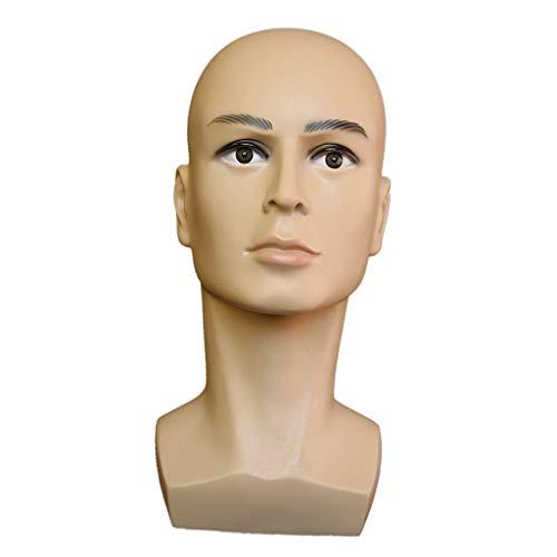 Sharplace Männlich Modell Kopf Schaufensterpuppe Kopf Mannequin Kopf Perücke Brille Hut Display Ständer