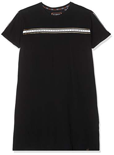 and T_Shirt Dress Kleid, Schwarz (Black 02A), Large (Herstellergröße:14) ()