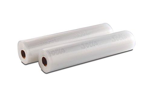 Solis Vakuumierfolie, 2 Rollen, 30 x 600 cm, Tiefkühlen/ Vakuumgaren, Individuell Zuschneiden, Wiederverwendbar*