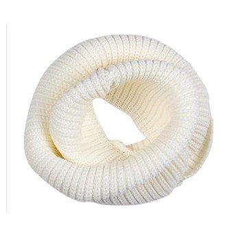Ducomi® Sciarpa Gilt Infinity a Tubo in Morbido Misto Lana - Ottimo Regalo (Bianco)