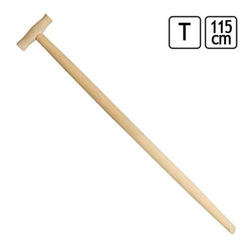 1 Spatenstiel Holzstiel T-Griff L 115cm Ø 35 mm Garten Spaten Stiel Ersatzstiel