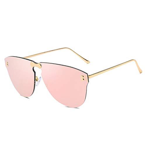 Idyandyans Frauen Männer Mädchen Frameless Sonnenbrille All-in-one Conjoined Objektiv-Brillen Eyewear Sreetwear
