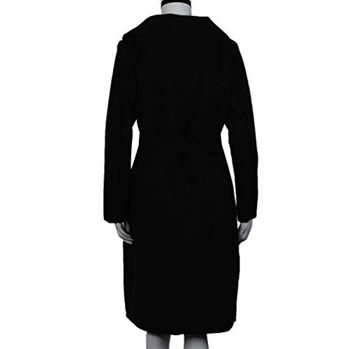 Ouneed® Femme Gilet Longue Hiver Noir
