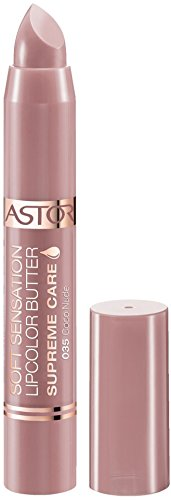 Astor Soft Sensation Lipcolor Butter Supreme Care - Pflegender Lippenstift für ein seidig-schimmerndes Finish - Farbe Coco Nude 35 - 1 x 5 g Astor Rose