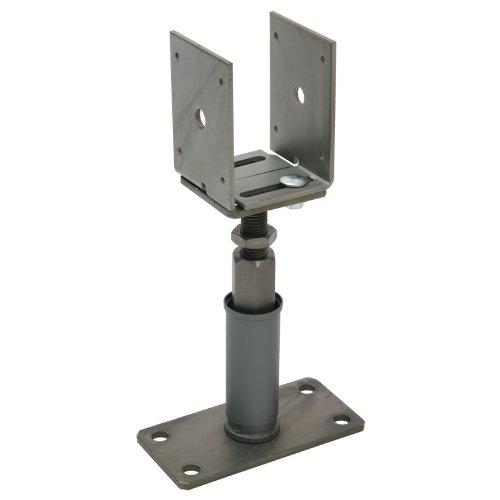 Sanifri 470018088 2 Stück Stützenschuh Edelstahl-Optik Verstellbar in Breite und Höhe