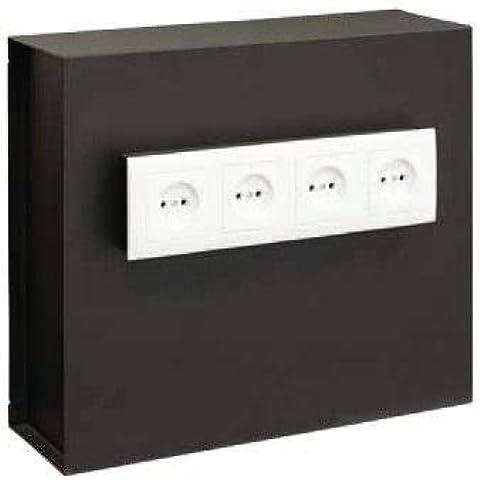 Arregui Socket - Caja fuerte camuflada como enchufes (acero, 400 x 350 x 130 mm) color negro