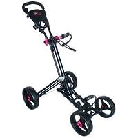 Longridge Black - Carrito de golf de mano con ruedas (plegable, 4 ruedas,