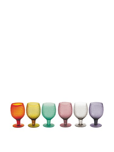 Villa d'este home tivoli karma set 6 calici vino vetro,, 8x8x14.5 cm