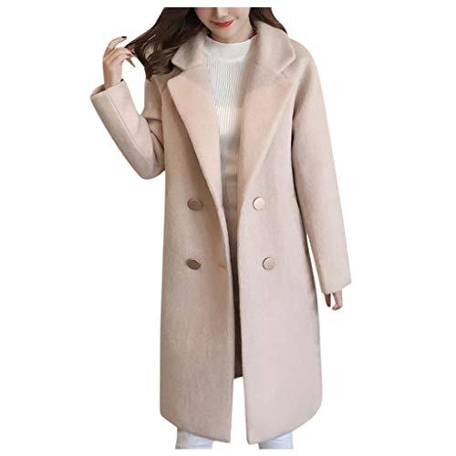 Abrigo de Mujer Paño Invierno Largas Tallas Grandes Elegantes,PAOLIAN Chaquetas para Mujer Jover Otoño...