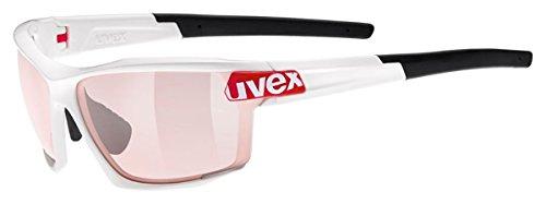 Uvex Sportsonnenbrille Sportstyle 113 V White Red, One Size