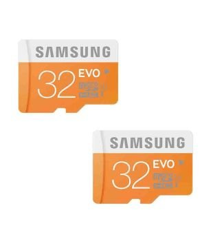Samsung EVO 32GB Class 10 Micro SDHC Memory Card- 2Pcs Combo Only From M.P Enterprise