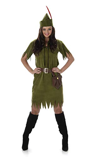 Pan Peter Kostüm Womens - Karnival Costumes 81033 Kostüm Women grün S