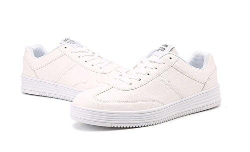 Homme Chaussures Sport Casual Chaussures Caoutchouc Sporty Sweatshirt Hiver Noir Blanc Taille 39 À 46 Blanc