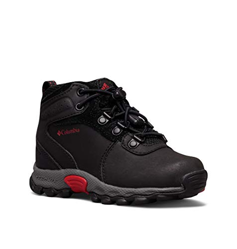 Columbia Childrens Newton Ridge, Scarpe da Arrampicata Unisex-Bambini, Nero (Black/Mountain Red), 30 EU