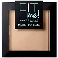 Maybelline Polvos Compactos Matificantes Fit Me (Mate y Sin poros), Tono 130 Buff Beige