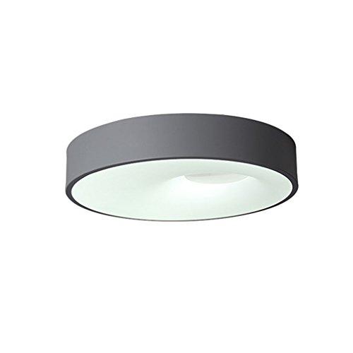 Hochwertig WYQLZ Kronleuchter, Schlafzimmer Deckenleuchte Nordic Macarons Farbe Runde  Einfache Warme LED Deckenleuchte ( Farbe : Grau Warmes Licht Durchmesser  60cm )