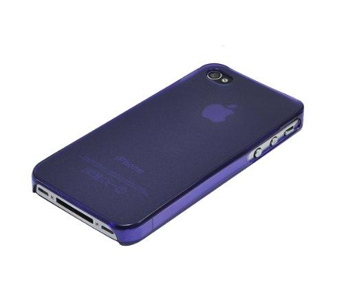 Xcessor Dark Magic Ultra Thin Hartplastik Fall für iPhone 4/4S–parent, Purple/Semi Transparent, 4S Lila 2 /Semi-transparent