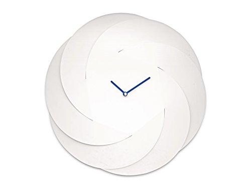 Alessi ABI10 W Infinity Clock Orologio da parete, in acciaio colorato con resina epossidica, Bianco (Super White)