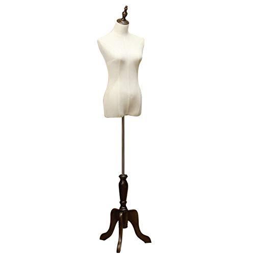 DQM Weibliche Mannequin-Torso-Körperform mit verstellbarem Stativ, Model-Rahmen für Bekleidungsgeschäfte, weibliche Model-Requisiten für Bekleidungsgeschäfte