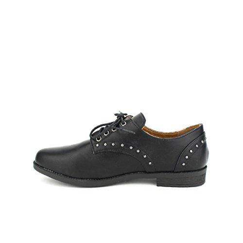 Cendriyon Derbies Noires CINKS Moda Chaussures Femme Noir