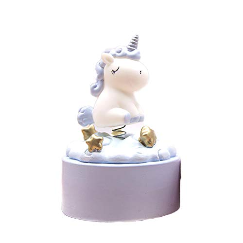 CDKJ Caja de Música de Unicornio Decoración de Caja de Música Rainbow