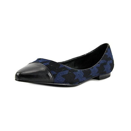 Nine West Solile Femmes Toile Chaussure Plate Navy-Black-Black