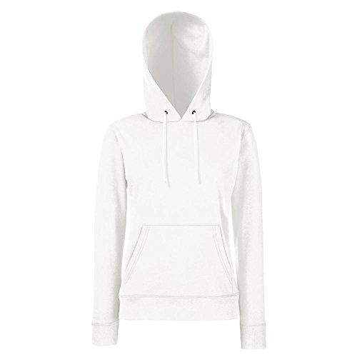 Fruit of the Loom - Lady-Fit Hooded Sweat M,White (Weißer Pullover)