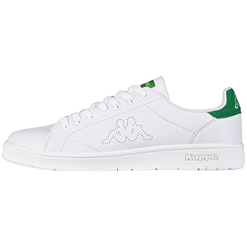 kappa-unisex-erwachsene-court-low-top-weiss-1030-white-green-43-eu