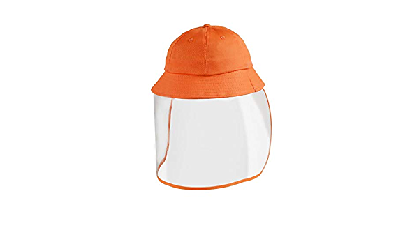 Romacci Boy Girl Bucket Hats Removable Face Shield Clear Visor Transparent Shield Windproof Cute Sun Hat Beach Outdoor Camping Travel Holiday Casual Caps