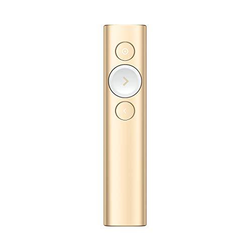 Logitech Spotlight Télécommande de présentation - Mise en Lumière Numérique avancée avec Bluetooth, Compatibilité Universelle, portée de 30 m et Charge Rapide – Gold