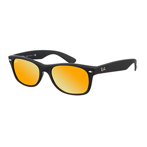 Ray Ban Unisex Sonnenbrille RB2132, Gr. 52mm (Gestell: schwarz, Gläser: braun gespiegelt rot)