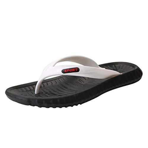 Herren Flip Flops Pantoletten Leichte Hausschuhe Sandalen Bequeme Sommerschuhe rutschfeste wasserdichte Flip-Flops für Strand/Pool UK Größe