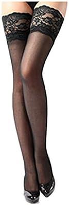 zolimx Calcetines de las mujeres, Encaje pura muslo superior alta lencería medias