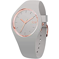 Ice-Watch - Ice Glam Pastel Wind - Reloj Gris para Mujer con Correa de Silicone - 001070 (Medium)