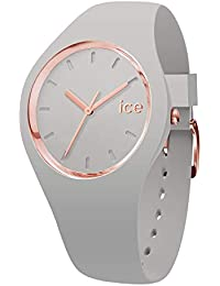 Ice-Watch - Ice Glam Pastel Wind - Montre Grise pour Femme avec Bracelet en Silicone - 001066 (Small)