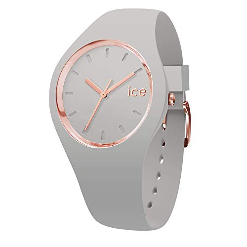 Ice-Watch - Ice Glam Pastel Wind - Graue Damenuhr mit Silikonarmband - 001070 (Medium)